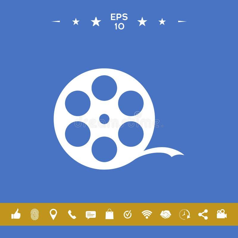 Rolka ekranowy symbol ilustracji