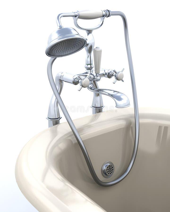 rolka kąpielowy klasyczny wierzchołek ilustracja wektor