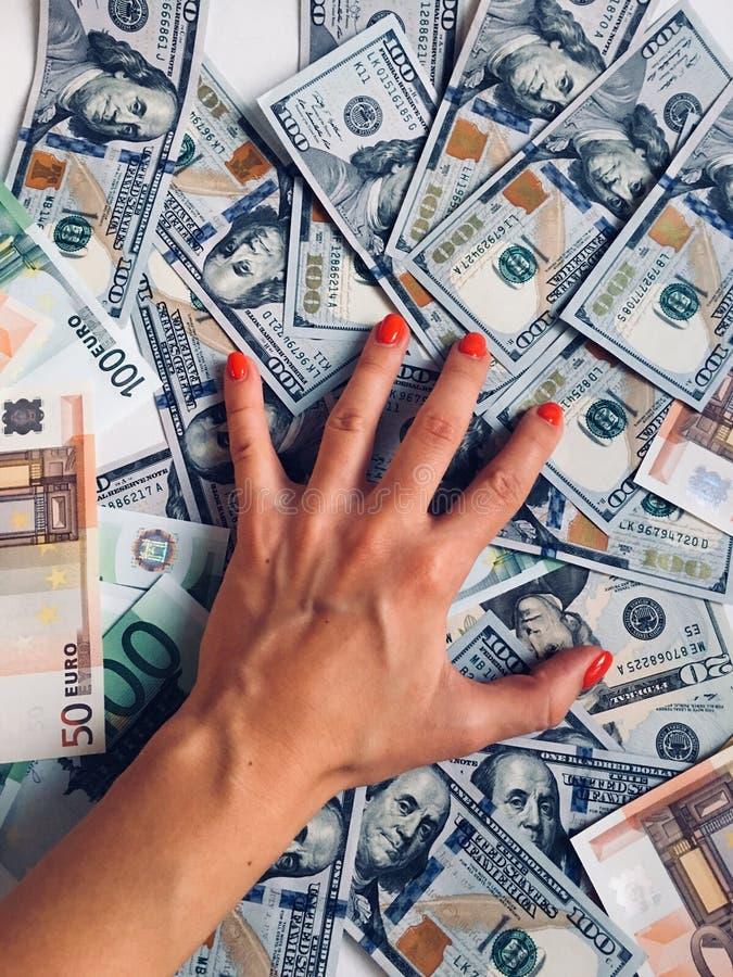 Rolka pieniądze zdjęcia royalty free