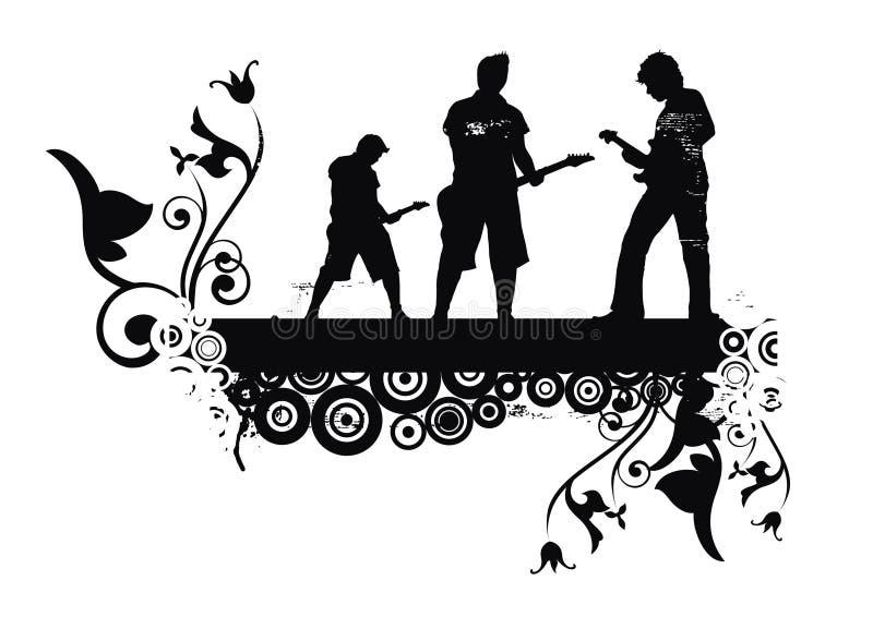 rolka rock royalty ilustracja