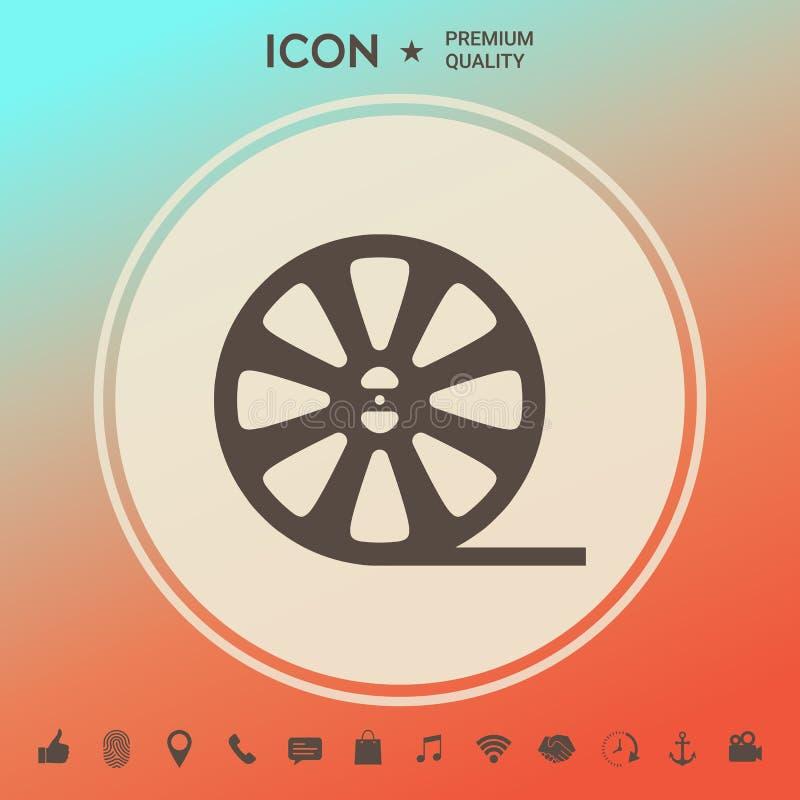 Rolki ekranowa ikona ilustracji