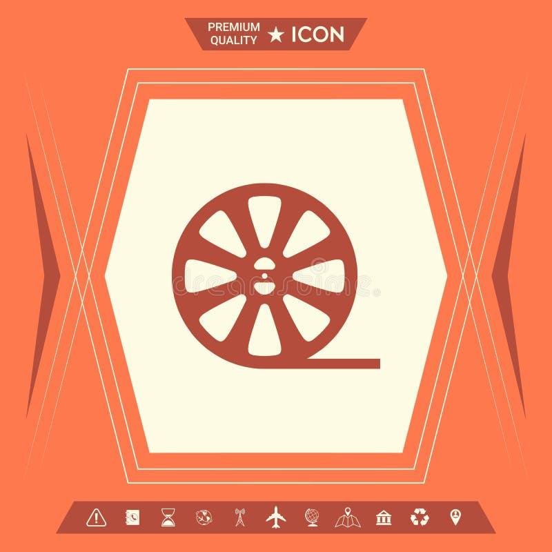 Rolki ekranowa ikona royalty ilustracja