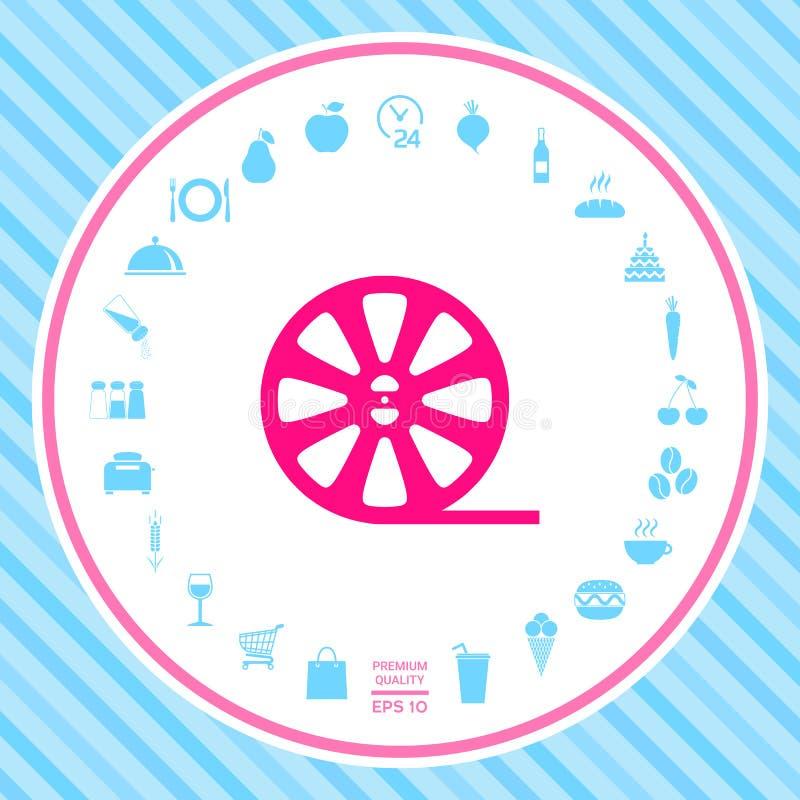 Rolki ekranowa ikona ilustracja wektor