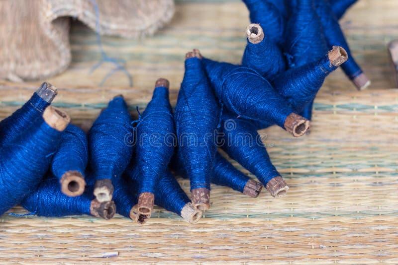 Rolki Indygowy farbujący płótno (Kram) zdjęcia stock
