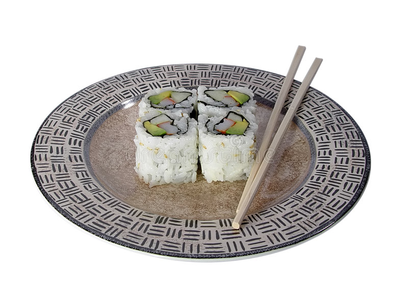 rolki kalifornijskie sushi obraz royalty free
