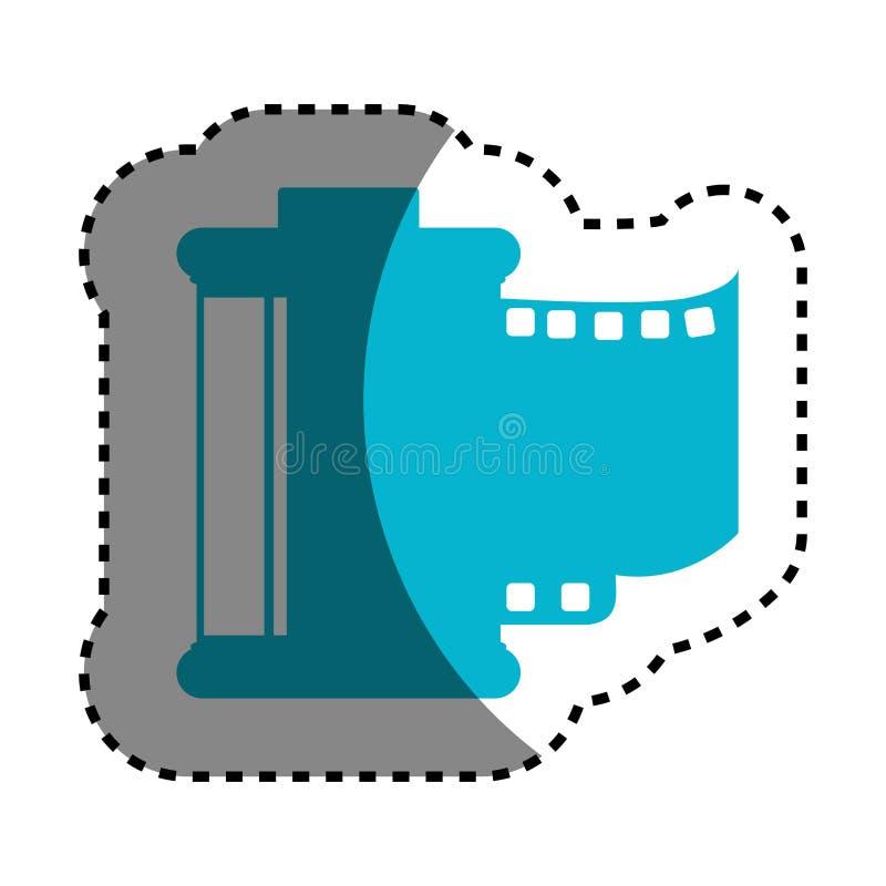 Rolki kamery fotograficzna odosobniona ikona ilustracja wektor