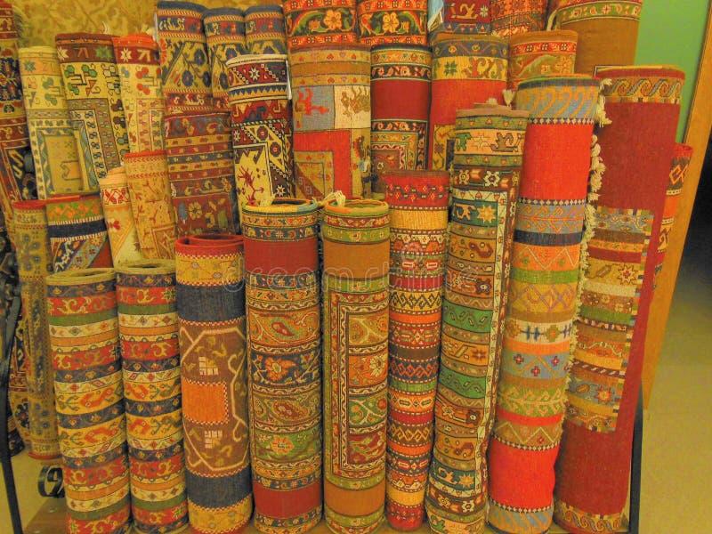 Rolki Tureccy dywany zdjęcia stock