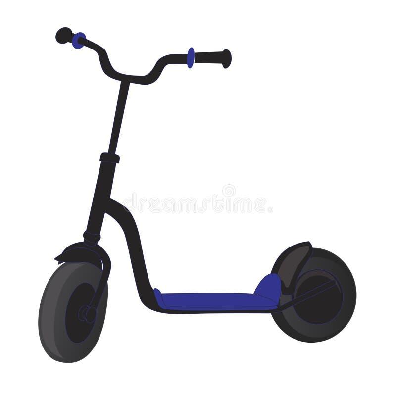 Rolkowa hulajnoga dla dzieci Balansowy rower Eco miasta transport Wektorowa kopnięcie hulajnoga kolekcja Pchnięcie cykl odizolowy ilustracja wektor