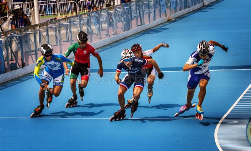 Rolkowego łyżwiarstwa rywalizacja zdjęcia royalty free