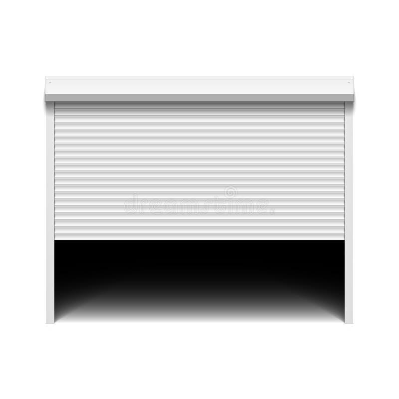 Rolkowy żaluzja garażu drzwi ilustracja wektor