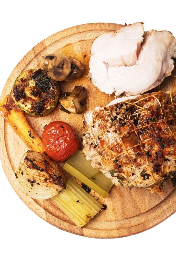 Rollè con carne con le verdure e le spezie fotografie stock libere da diritti