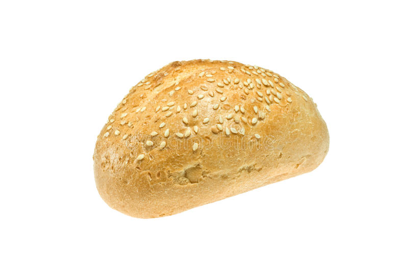 Roll. Series of bread, rolls and croissants stock photo