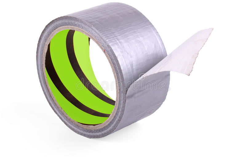 Roll of adhesive tape. On a white background stock photo