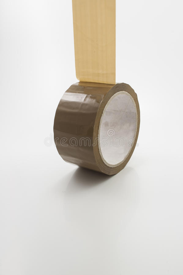 Roll adhesive tape. On white background stock photography