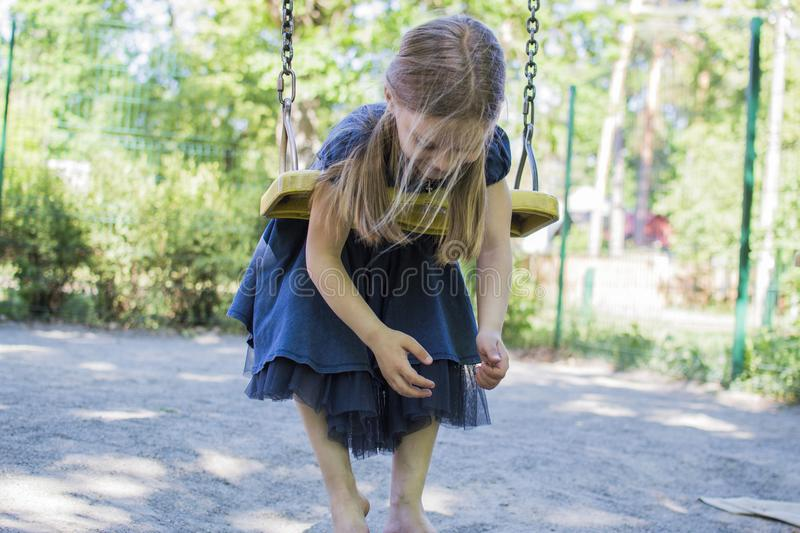 ride a swing higher and higher stock images