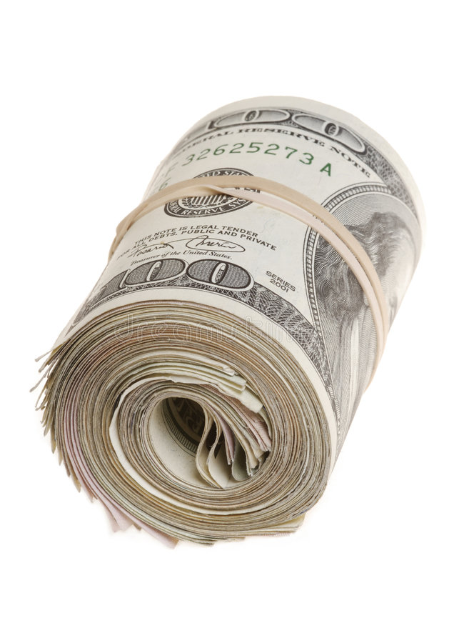 Roll Of Bills Stock Images