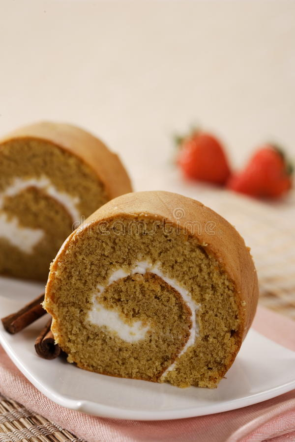 Download Roll cake stock photo. Image of cake, cream, roll, natural - 21375262