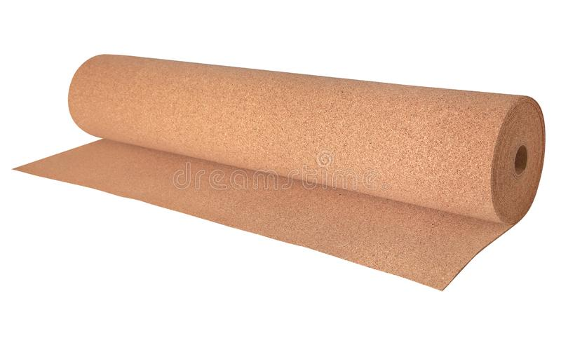 Roll of cork substrate for the conatruction industry royalty free stock photo