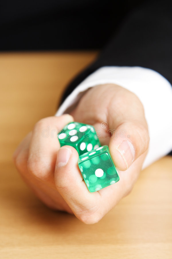 Roll a dice royalty free stock images