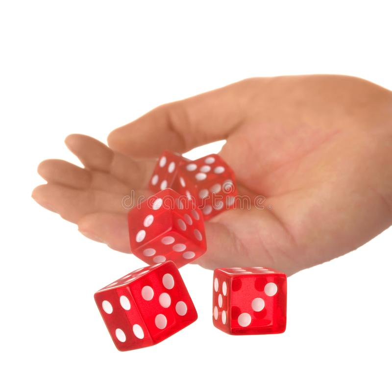 A Roll of the dice royalty free stock photos