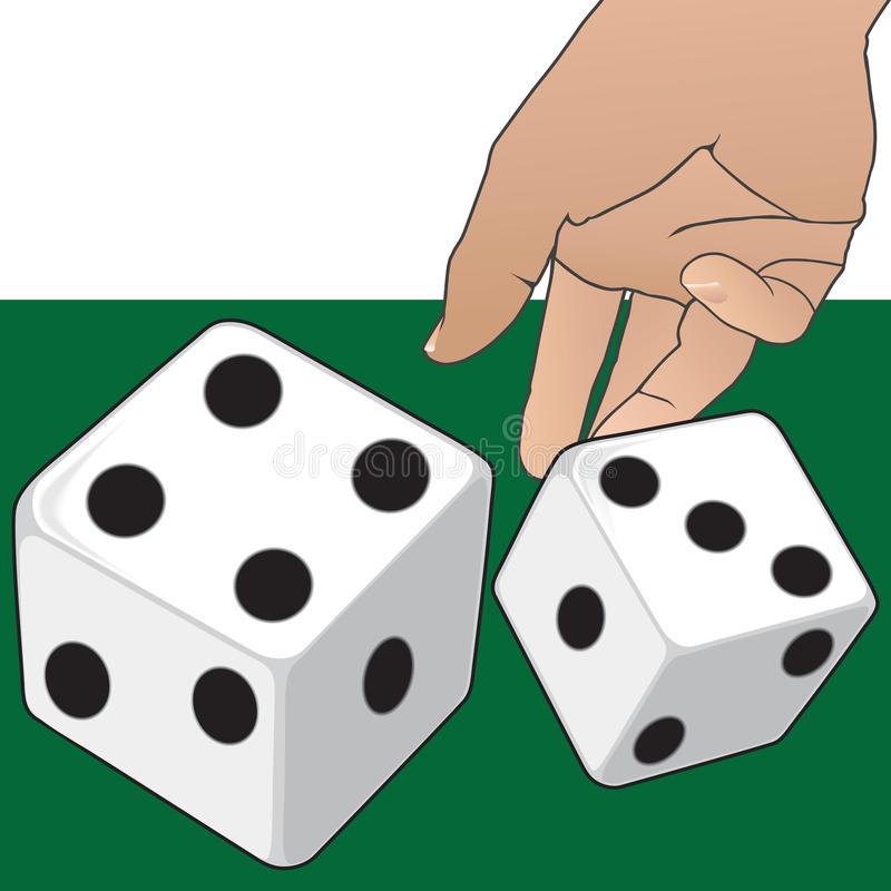 A Roll of the Dice vector illustration