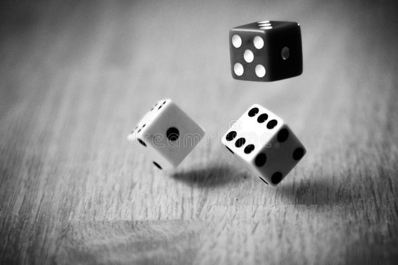 Roll dice stock image