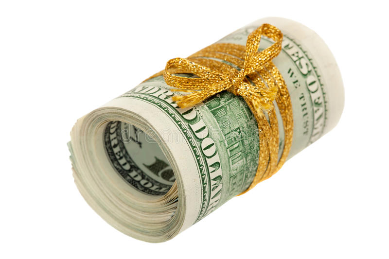 Download Roll Of 100 Dollar Bills Royalty Free Stock Images - Image: 29903839