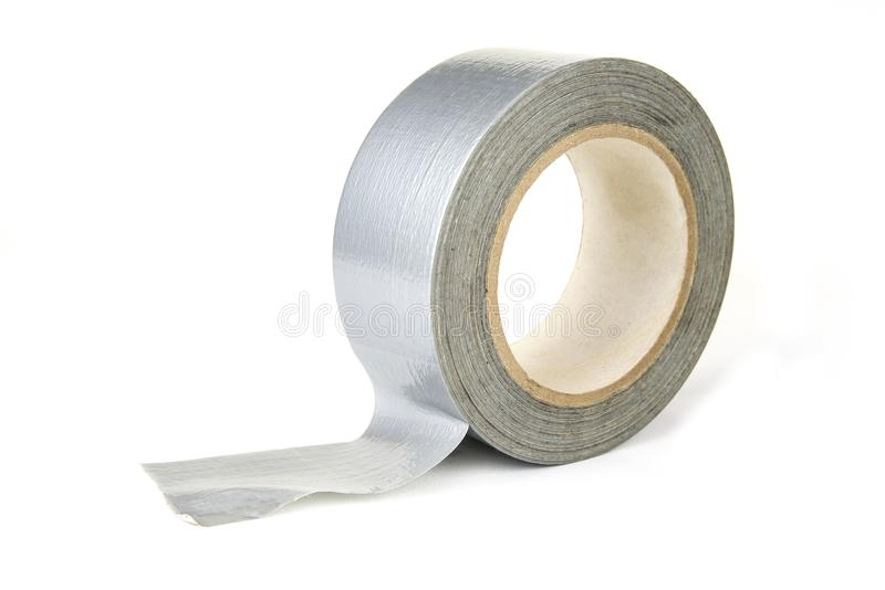 Roll of duck or duct tape on the white background royalty free stock image