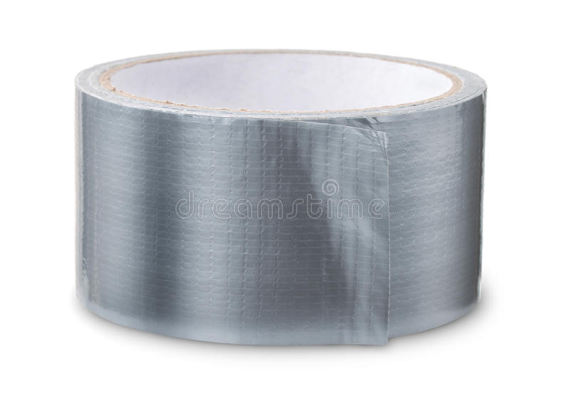 Roll of duct tape. Isolated on white stock photography