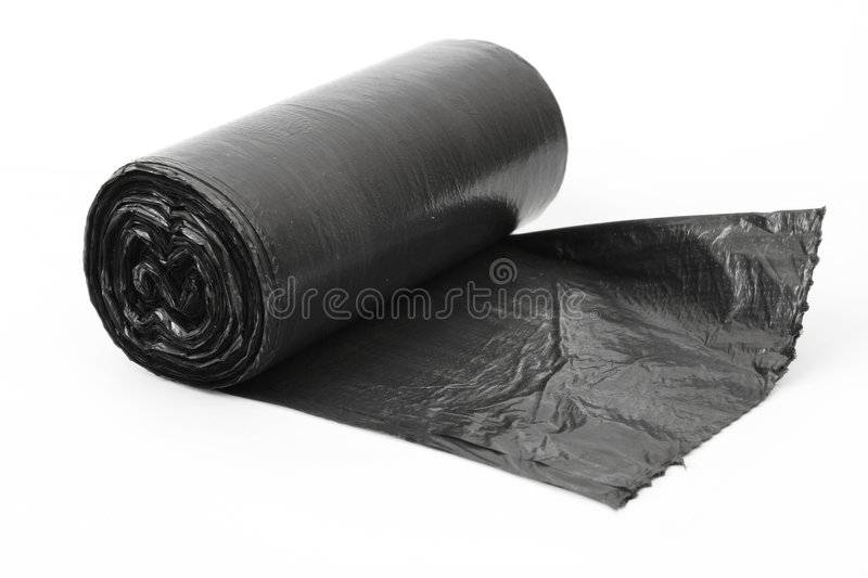 Roll of dustbin liners royalty free stock image