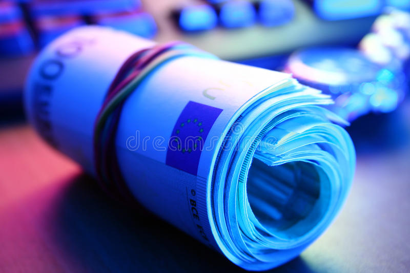 Roll Of Euro Bill Royalty Free Stock Photos