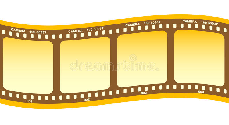 Roll of film stock illustration