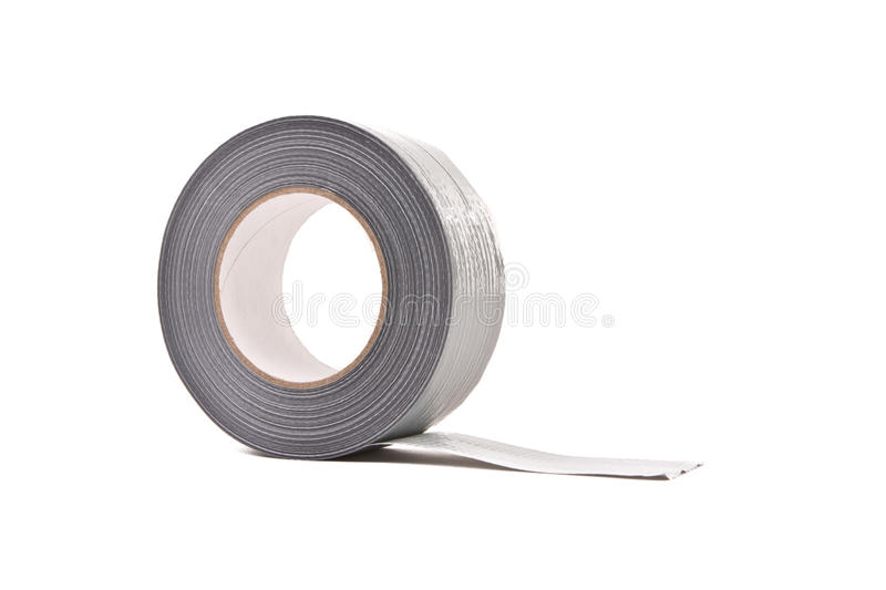 A roll of grey/silver Duct Tape stock photography