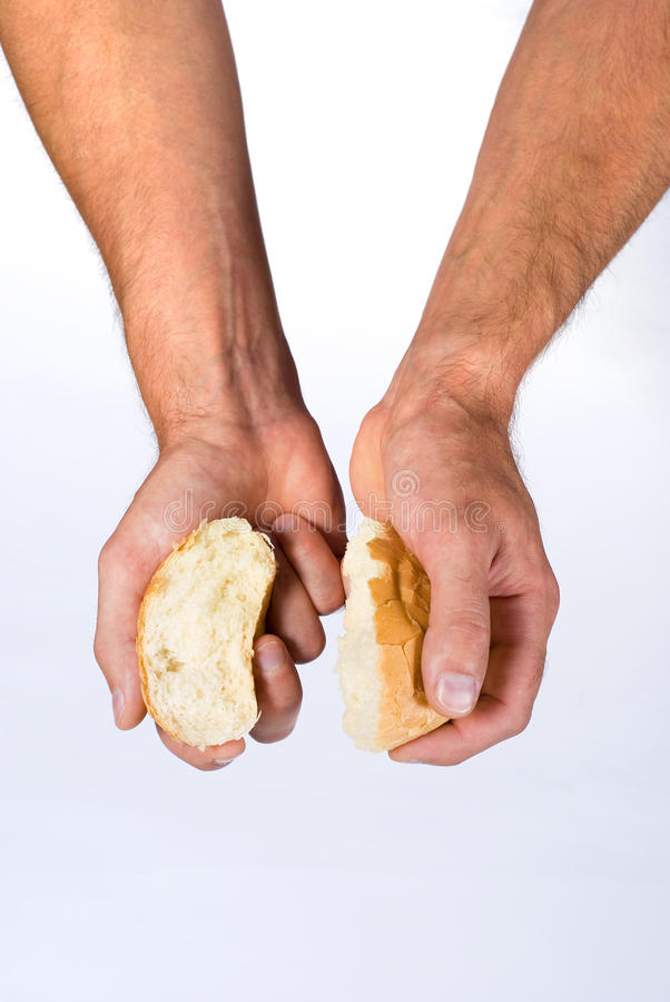 Roll in hands royalty free stock images