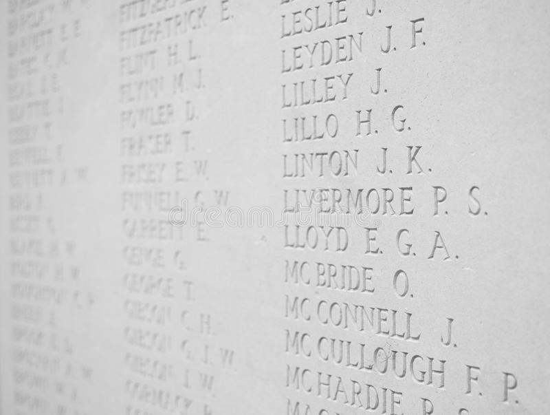 Download Roll of Honour editorial image. Image of flanders, ieper - 23869625