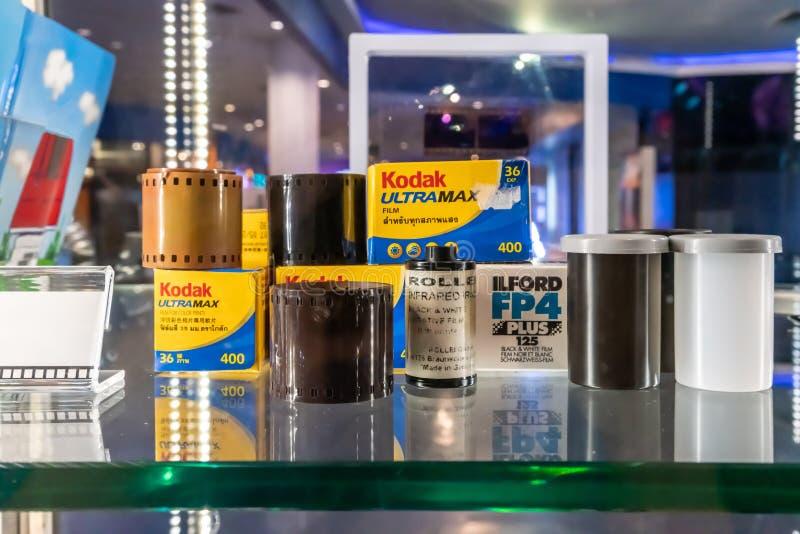 A roll of Kodak 400-CN films with packaging. Bangkok, Thailand- Apr 18, 2019 stock photo