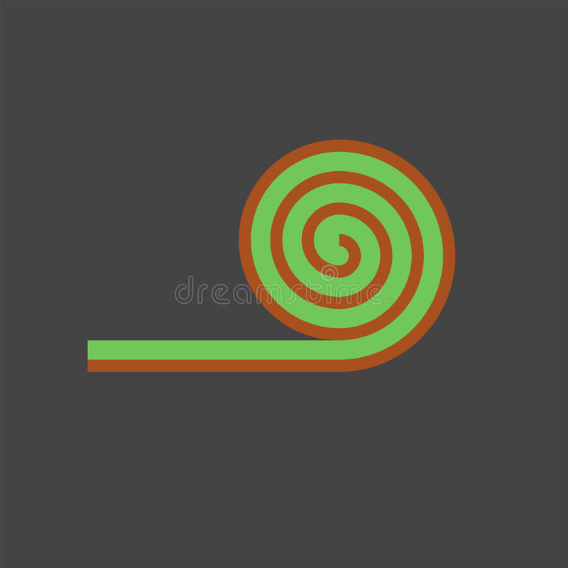 Roll lawn flat icon. Vector sign for web graphics vector illustration