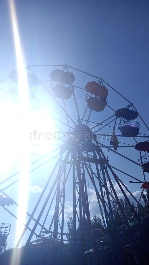 Roll of looking arond under blue summer sky stock photography