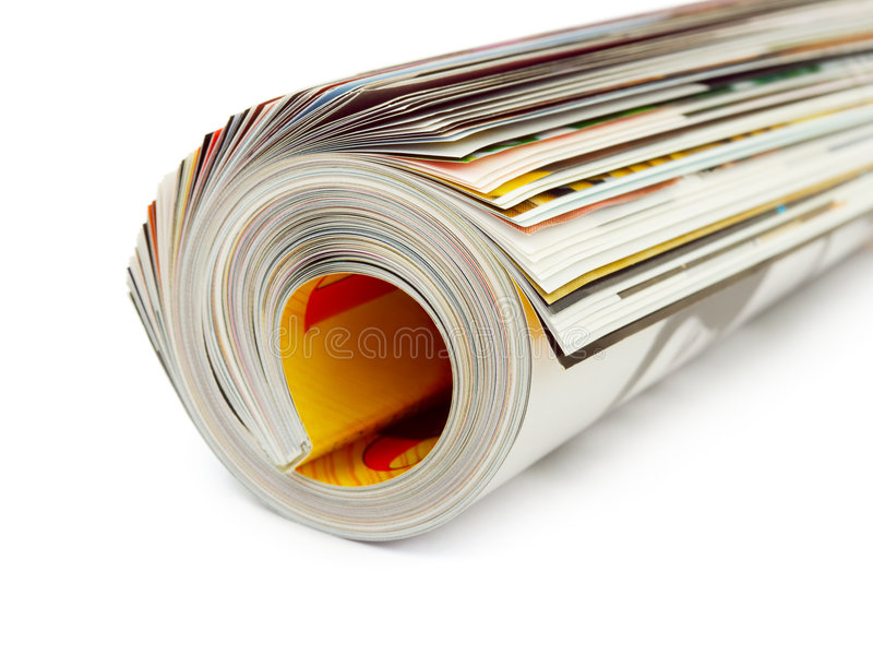 Roll of magazine royalty free stock images