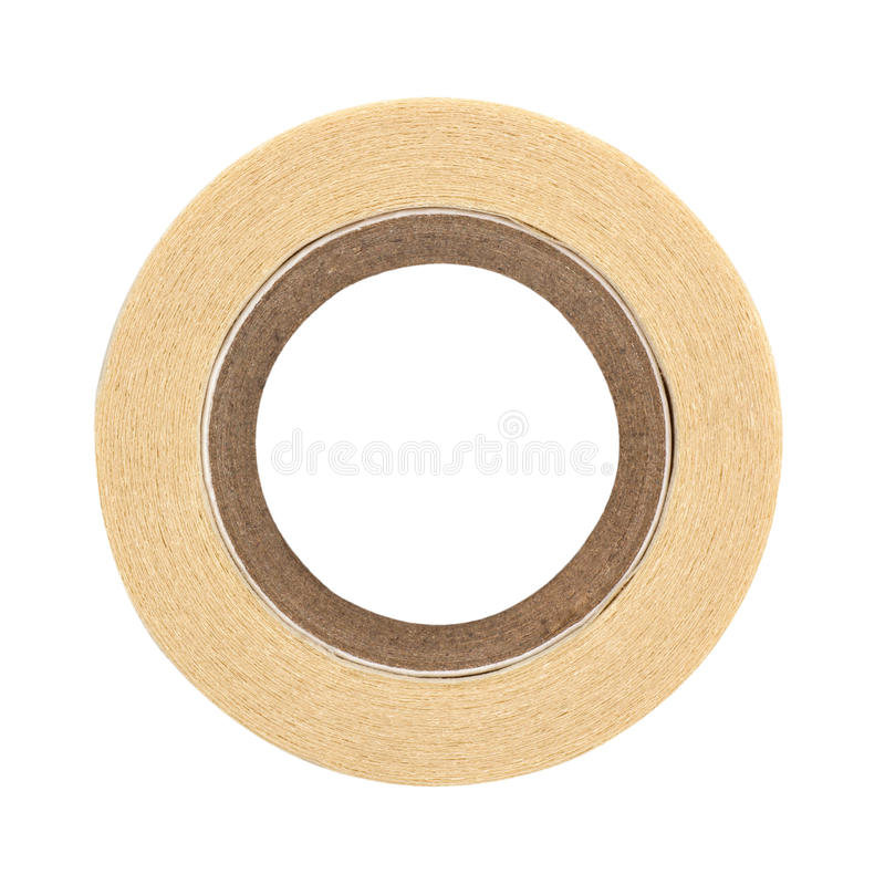 Roll of masking tape. On white royalty free stock photos