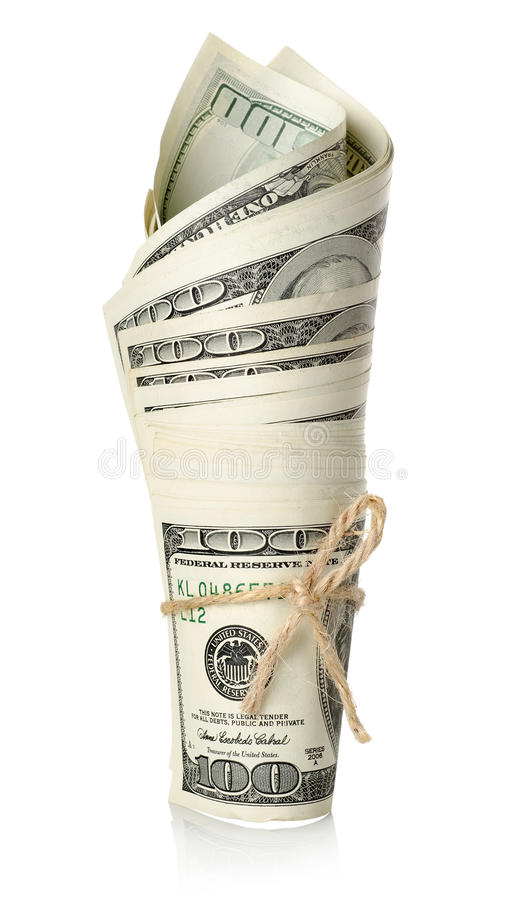 Roll of money royalty free stock photo