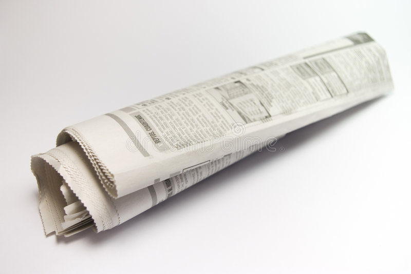 Roll news paper royalty free stock photography
