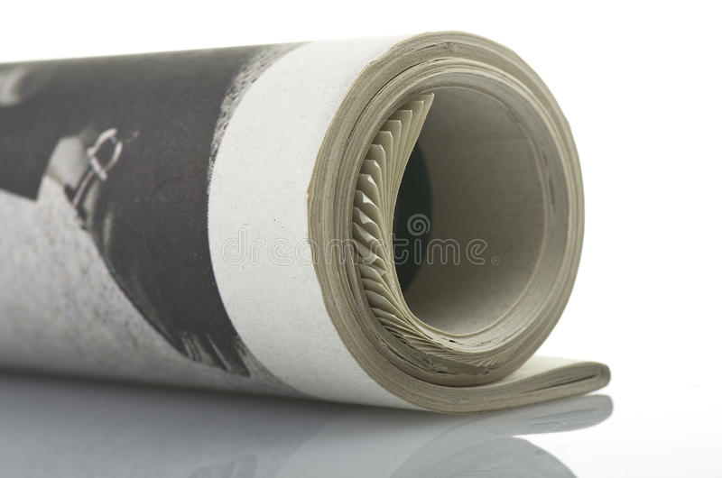 Roll newspapers stock images