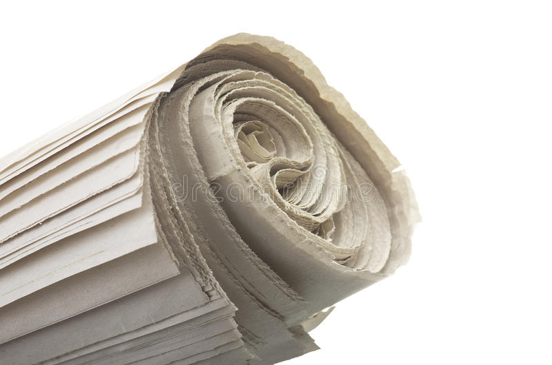 Roll newspapers stock photos