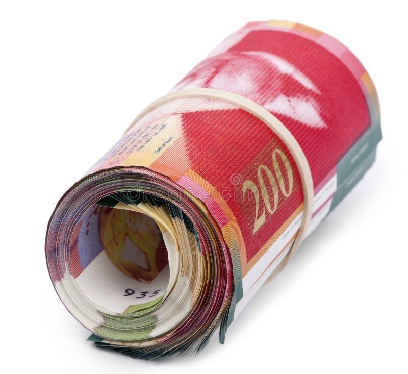 Free Roll Of 200 Israeli New Shekels Bills Royalty Free Stock Photo - 29768775