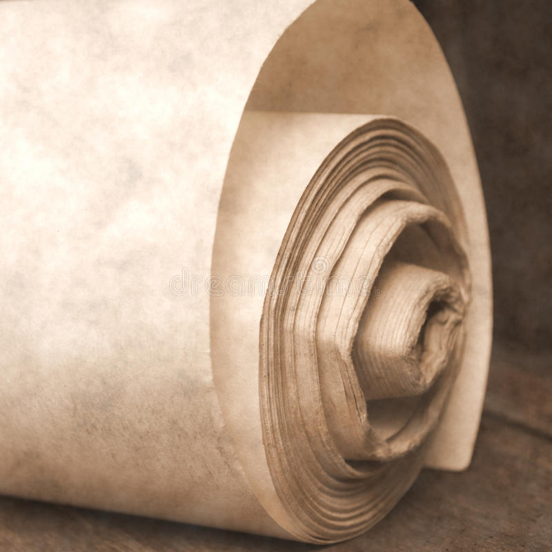 Download Roll old paper stock image. Image of list, paper, letter - 33693583
