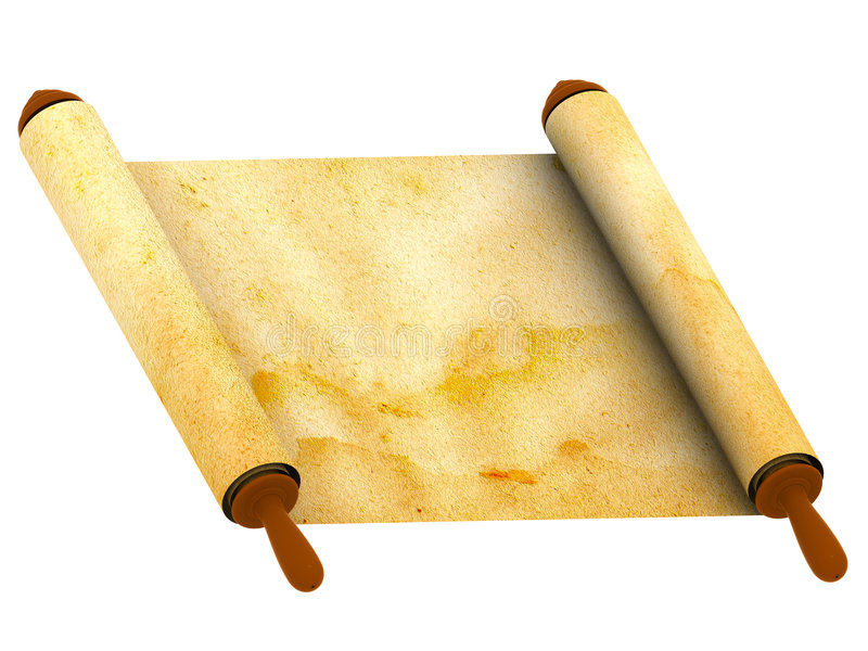 Roll of a paper royalty free illustration