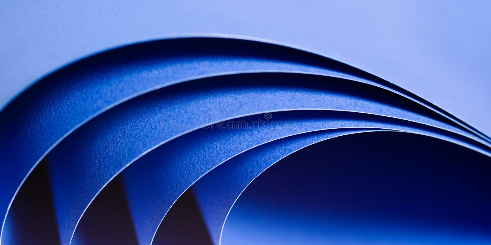 Roll of Paper. Abstract image of blue paper rolls royalty free stock photos