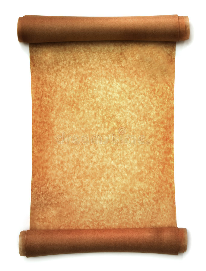 Roll of parchment stock images
