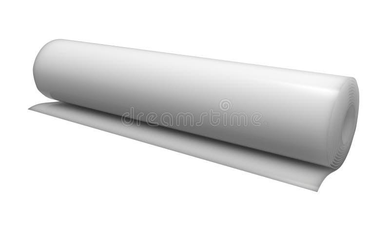 Download Roll of plastic stock illustration. Illustration of film - 26583632